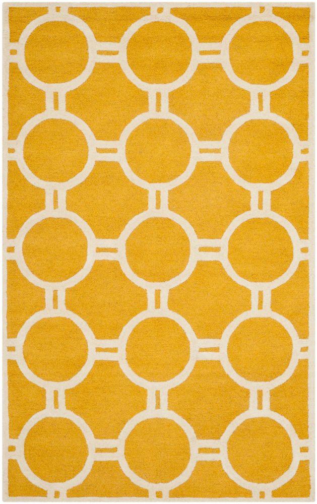 Safavieh Cambridge Colin Gold / Ivory 4 ft. x 6 ft. Indoor Area Rug