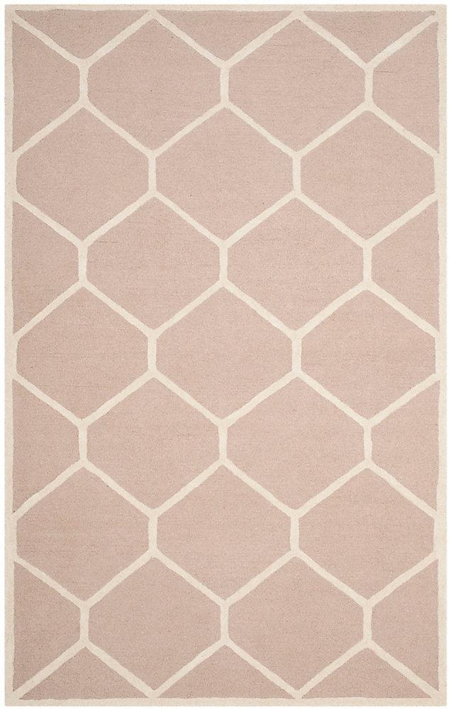 Tapis d'intérieur, 4 pi x 6 pi, Cambridge Ebenezer, beige / ivoire