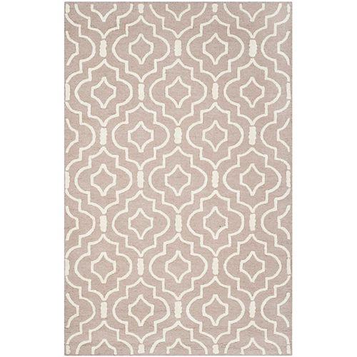 Safavieh Tapis d'intérieur, 4 pi x 6 pi, Cambridge Heng, beige / ivoire