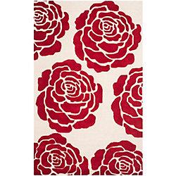 Safavieh Cambridge Rem Ivory / Red 4 ft. x 6 ft. Indoor Area Rug