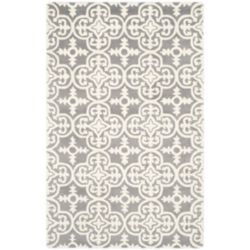 Safavieh Chatham Abbot Dark Grey / Ivory 4 ft. x 6 ft. Indoor Area Rug