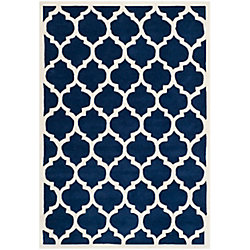 Safavieh Chatham Candace Dark Blue / Ivory 4 ft. x 6 ft. Indoor Area Rug