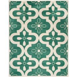 Safavieh Chatham Deitra Teal / Ivory 4 ft. x 6 ft. Indoor Area Rug