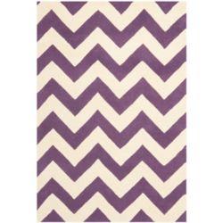 Safavieh Tapis d'intérieur, 4 pi x 6 pi, Chatham Lara, violet / ivoire