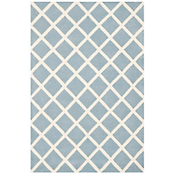 Safavieh Chatham Lily Blue / Ivory 4 ft. x 6 ft. Indoor Area Rug