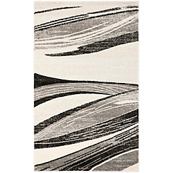 Safavieh Retro Tiffany Light Grey / Ivory 4 ft. x 6 ft. Indoor Area Rug
