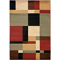 Safavieh Porcello Ali Black / Multi 5 ft. 3-inch x 7 ft. 7-inch Indoor Area Rug