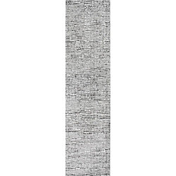 nuLOOM Sherill Grey 2 ft. 5-inch x 9 ft. 5-inch Indoor Runner