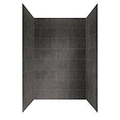 48 inch X 32 inch Shower Wall System in Slate Grey