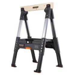 RIDGID 32-inch Adjustable Folding Sawhorse