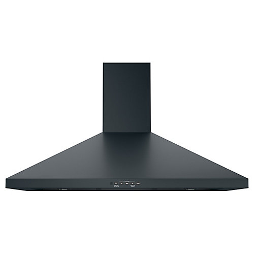 36-inch Wall-Mount Pyramid Chimney Hood - Black Slate