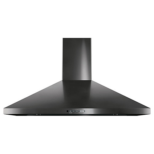 36-inch Wall-Mount Pyramid Chimney Hood - Black Stainless