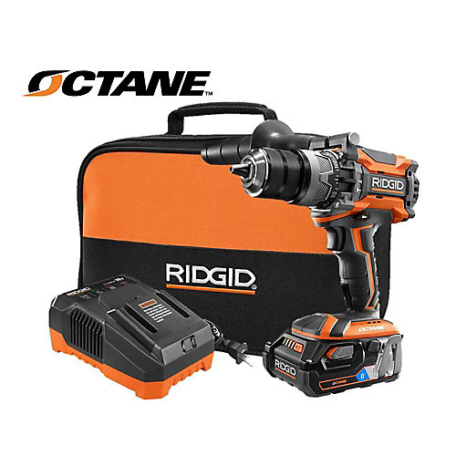 18V OCTANE Brushless 1/2-inch Hammer Drill Kit with OCTANE Battery, Charger, and Contractor Bag