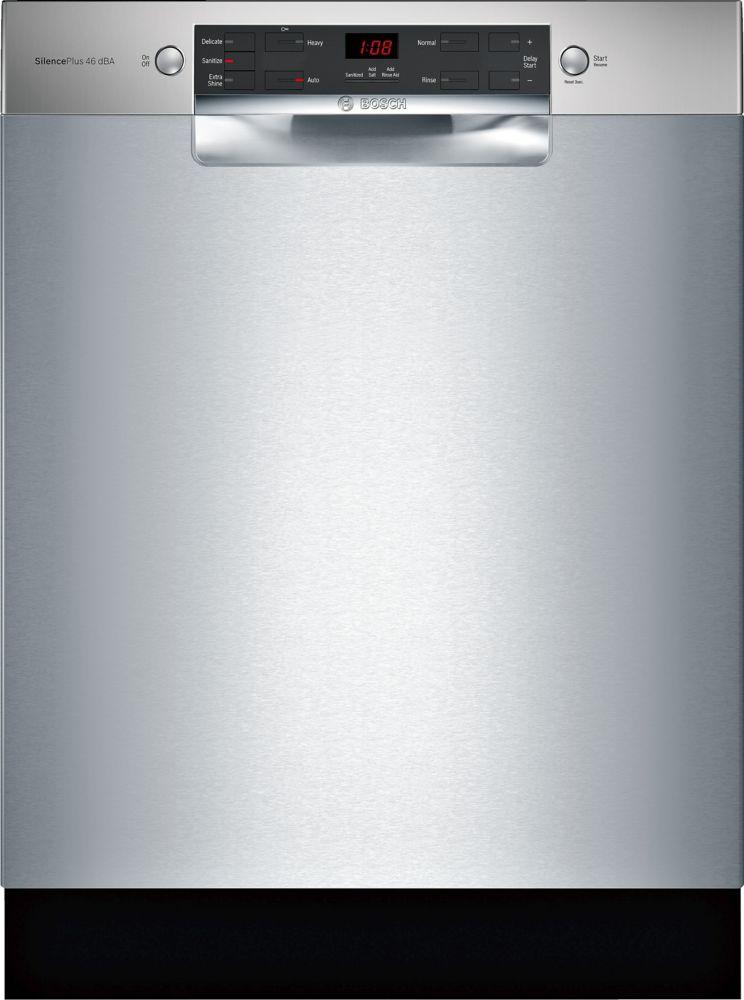 Bosch 300 Series - 24 inch Dishwasher w/ Recessed Handle - ADA Compliant - 46 dBA