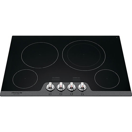 30-inch Radiant Smooth Electric Cooktop with 4 Elements in Stainless Steel