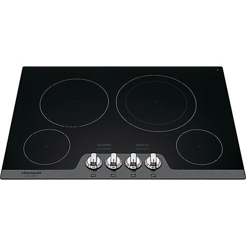 Table de cuisson électrique lisse radiante de 30 pouces avec 4 éléments en acier inoxydable