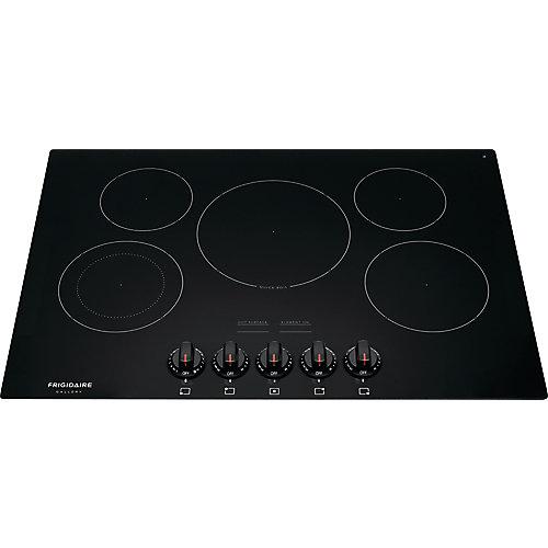 Table de cuisson électrique radiante de 30 pouces en noir avec 5 éléments