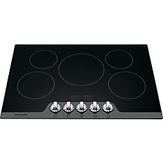 30-inch Radiant Electric Cooktop in Stainless Steel with 5 Elements