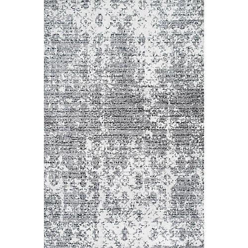 Tapis d'intérieur, 7 pi 6 po x 9 pi 6 po, Deedra, gris