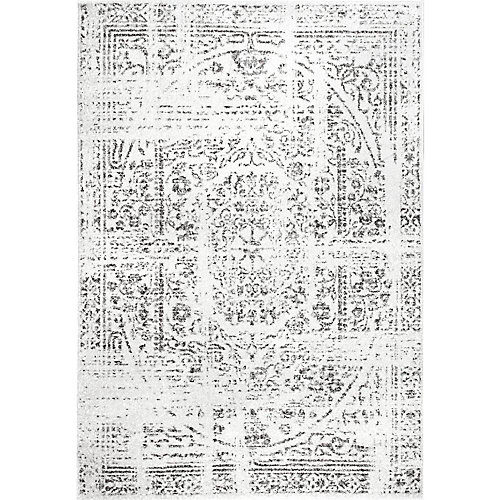 Tapis d'intérieur, 7 pi 6 po x 9 pi 6 po, Arlena, gris