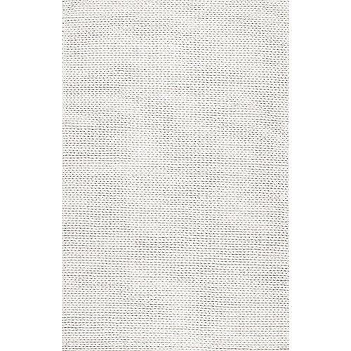 Tapis d'intérieur tissé à la main en laine épaisse câble, 8 pi x 10 pi,, ivoire