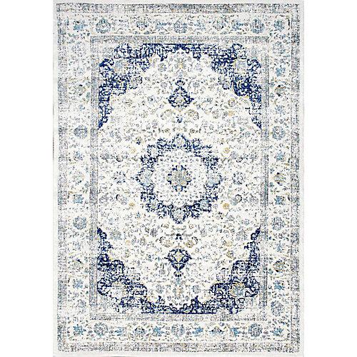 Tapis d'intérieur, 9 pi x 12 pi, Verona, bleu