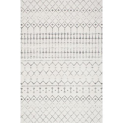 Tapis d'intérieur, 5 pi x 7 pi 5 po, Morocain Blythe, gris