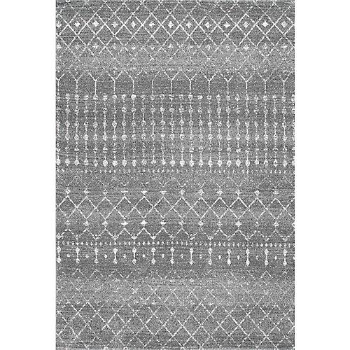 Tapis d'intérieur, 5 pi x 7 pi 5 po, Morocain Blythe, gris foncé