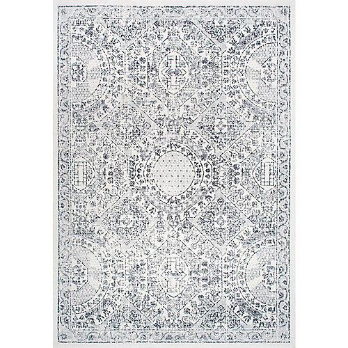 Tapis d'intérieur, 8 pi x 10 pi, Minta, gris