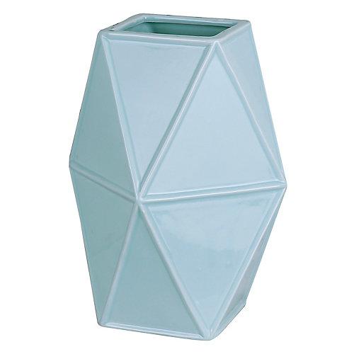 Vase décoratif en céramique géométrique