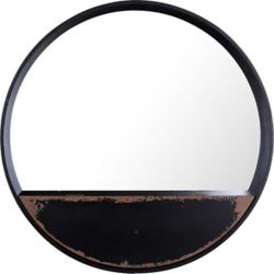Art Maison Canada Round Metal III Wall Mirror Shelf