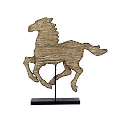 19.1x3x19.5 cheval Polyresin sur stand, accessoire
