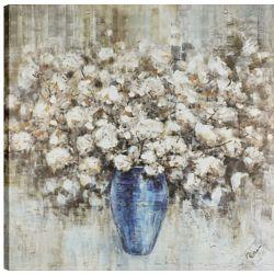 Art Maison Canada Vase à fleur 36 x 36, Art mur de toile imprimé, prêt à accrocher
