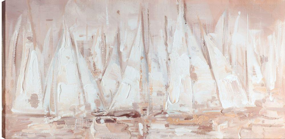 Art Maison Canada 24x48 Blush Sail Day, Canvas Print Wall Art, Ready to hang