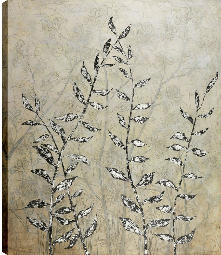 Art Maison Canada 50x60 Twigs with Leaves, Gel Coated Print Canvas