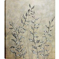 Art Maison Canada 50 x 60 branches avec feuilles, Gel enduit toile impression