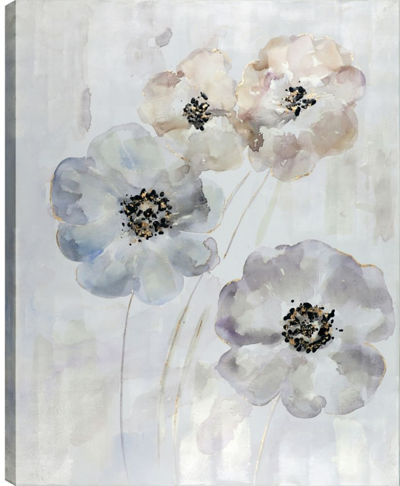 Art Maison Canada 40x50 Flower Bunch, Gel Coated Print on Wrapped Canvas Wall Art, Ready to hang