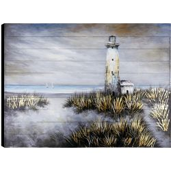 Art Maison Canada 36x48 Lighthouse, Frameless Hand painted on Wood, Ready to hang
