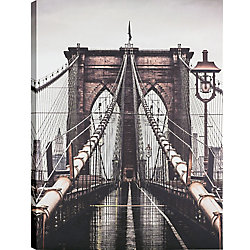 Art Maison Canada 30x40 Bridge, Canvas Print Wall Art, Ready to hang