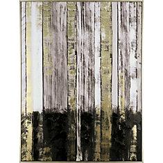 Or abstrait noir 30 x 40, main orné sur l'Art de mur enveloppé de toile, prêt à accrocher