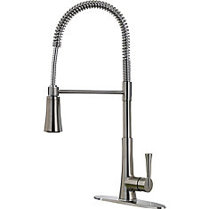 Zuri Culinary Pulldown Kitchen Faucet in Stainless Steel