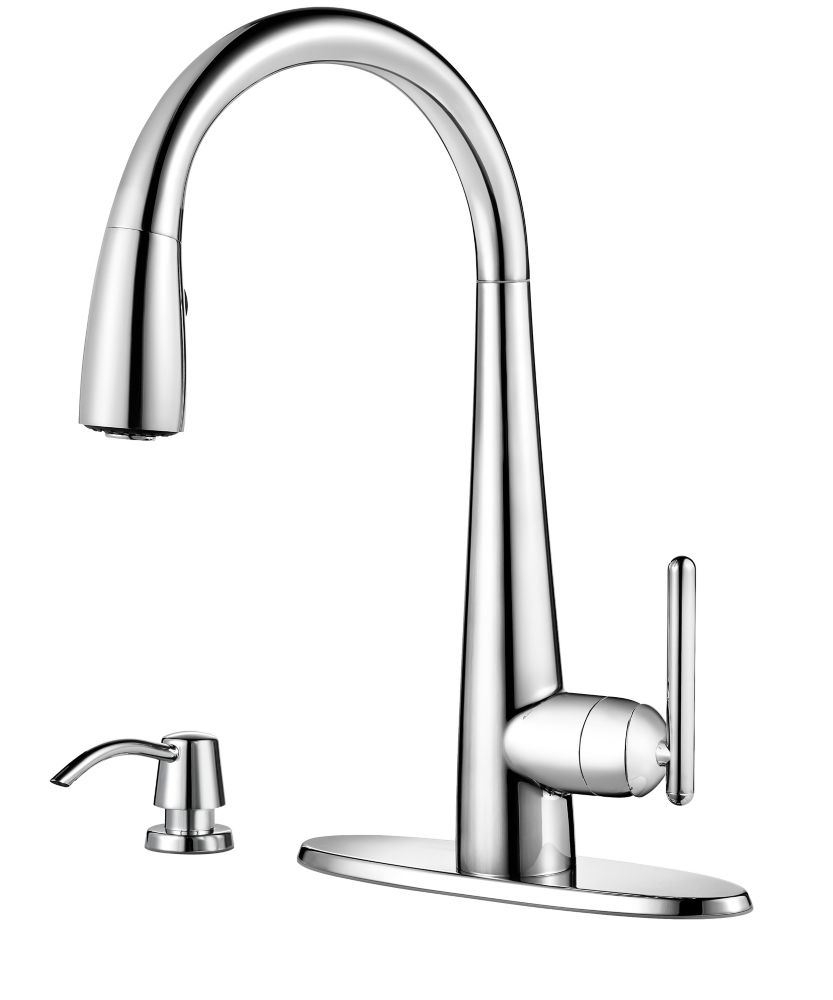 Pfister Lita Kitchen Pulldown Faucet in Polished Chrome