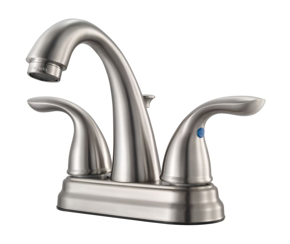 Pfister 2 Handle High Arc Centerset Lav Faucet in Brushed Nickel