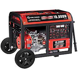 Power Force Gasoline Generator With Electric Start And Wheel Kit 10,000 Watt