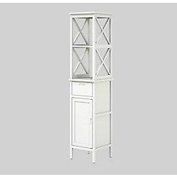 MIA Bathroom High Cabinet Shelf 40 x 40 x 183 cm (16 inch x 16 inch x 72 inch)