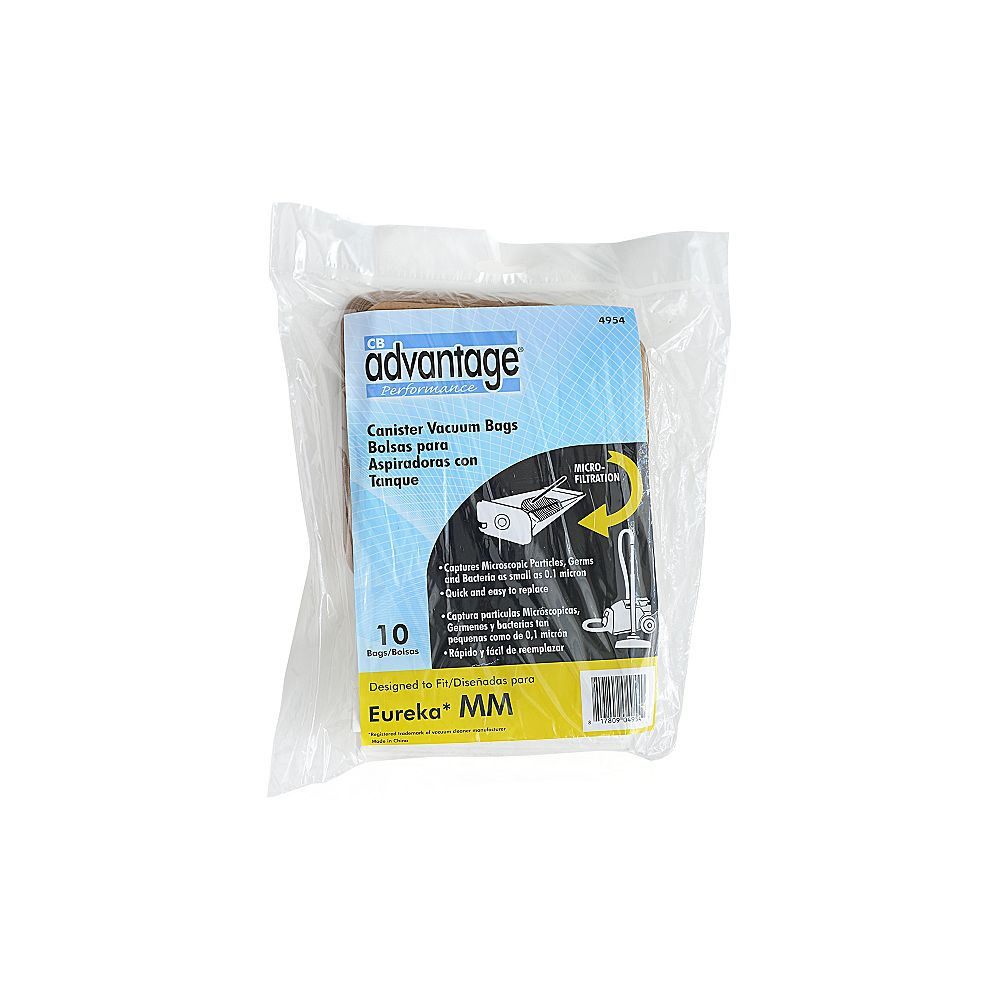 CB Performance Advantage Replacement Micro-Lined Vacuum Bags Compatible with Eureka MM  - (10-Pack)