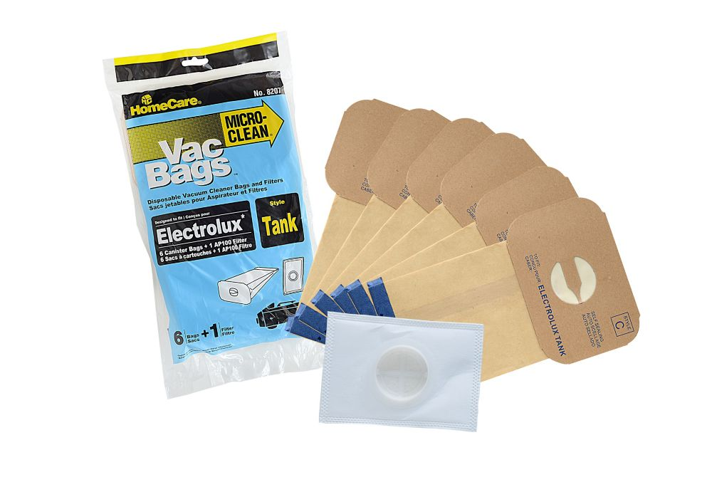 CB Performance Advantage Replacement Vacuum Bags & Filter Electrolux Tank, Style C,EconoPack - 6 Bags+1 Filter