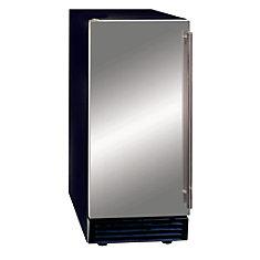 Maxx Ice Energy Star Intégré sous Comptoir 27,2 kilogram machine à glace avec pompe de vidange pour