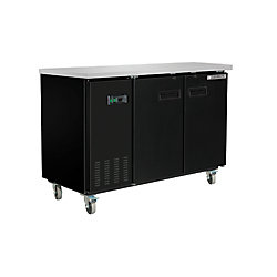 Maxx Cold X-Series Solid Door 60 inch Commercial Bar Back Cooler