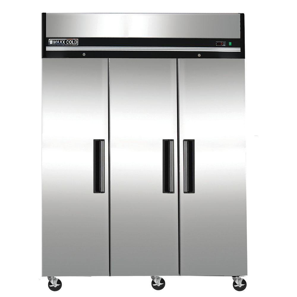 Maxx Cold X-Series 81 inch reach-in 72cuft 3 door Commercial Freezer